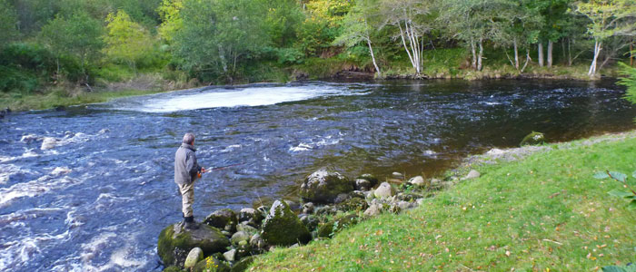 salmon fishing on the novar fishings, river alness  – beat 4, upper raven's rock