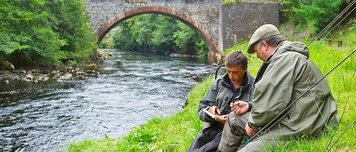 salmon fishing on the novar fishings, river alness or river averon, ross-shire – beat 5, rush pool