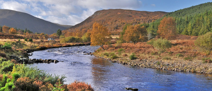 salmon fishing on the novar fishings, river alness or river averon, ross-shire –  beat 1, burn pool